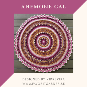 ANEMONE MANDALA BY VIRKEVIRA – ENGLISH PATTERN ONLY