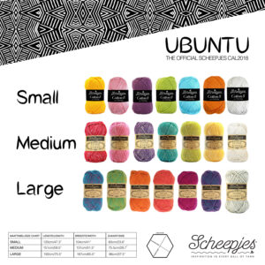 Ubuntu filt – Garnfakta (välj garn/egna färger)
