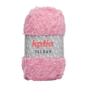Stickad babykofta EMMA – Katia Velour – Välj antal nystan efter storlek