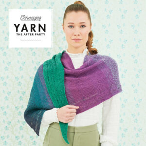 "Tunisisk virkning – Sjal ""Exclamation shawl"" – pappersmönster"