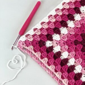 3D Granny Square / Cushion cover – Pattern only