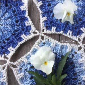 RIPPLES IN THE POND TABLE RUNNER – ENGLISH PATTERN (UK)