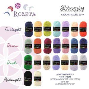 Garninformation till Rozeta Blanket – Skapa din egen färgkombination