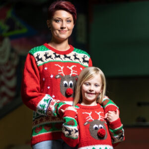 Pappersmönster stickad jultröja till barn 4-10 år