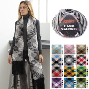 Magic Diamonds – Stickad Poncho