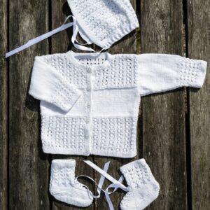 Mönster stickat baby- & barnset 2706