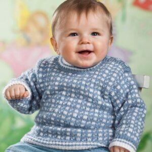 Mönster stickad baby-barntröja & mössa 2726