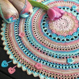 Happy Spring Mandala – Garn Jaipur (välj bland 9 färgpaket)