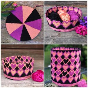 (XL) Mochila Bag Dancing Hearts – Färgpaket PLAYA